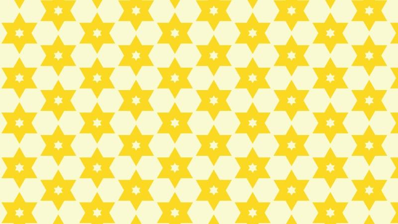 Light Yellow Seamless Stars Pattern Background Vector