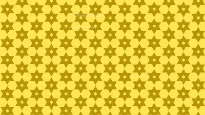 Yellow Seamless Stars Background Pattern Vector Art