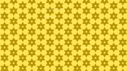 Yellow Seamless Stars Background Pattern Vector Art