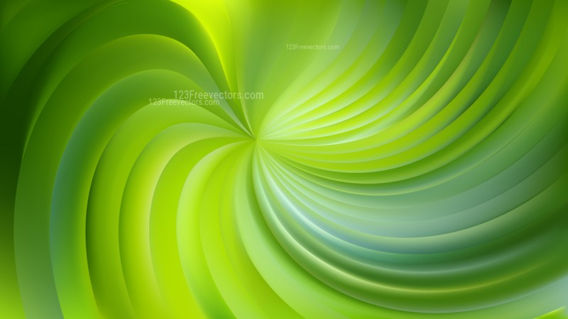 Abstract Green Swirl Background Vector Art
