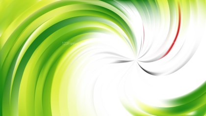 Abstract Green and White Swirl Background Vector Image