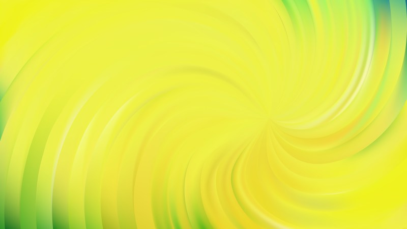 Abstract Green and Yellow Swirl Background Vector Illustration