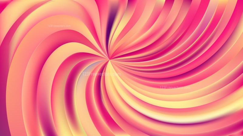 Abstract Pink and Yellow Swirl Background Illustration