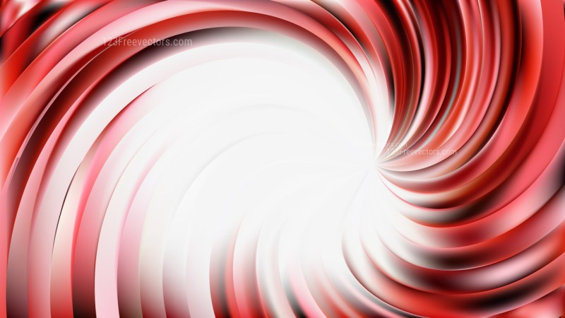Abstract Red and White Swirl Background