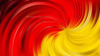 Abstract Red and Yellow Swirl Background