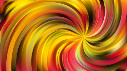 Abstract Red and Yellow Swirl Background Vector Illustration