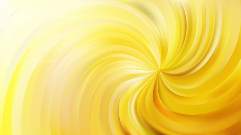 Abstract Yellow Swirl Background