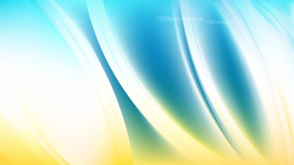 Blue and Yellow Background Illustration