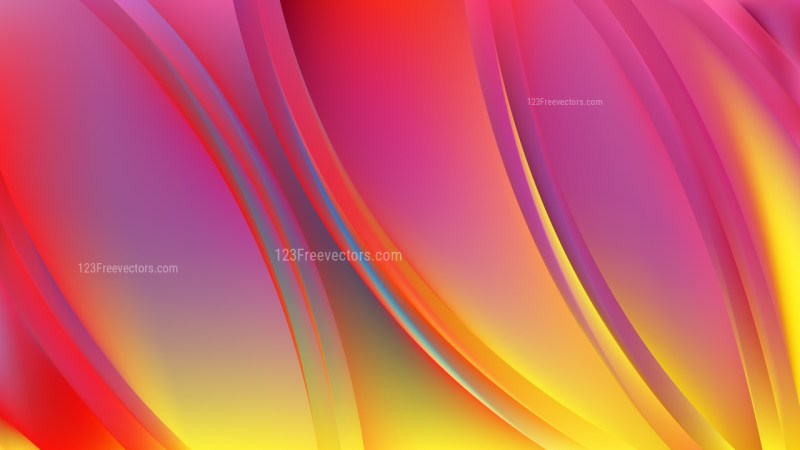 Abstract Pink and Yellow Background Vector Graphic