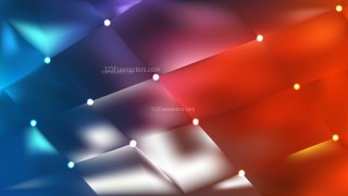 Red and Blue Bokeh Lights Background Graphic