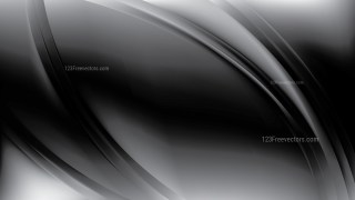 Abstract Black Shiny Wave Background Vector