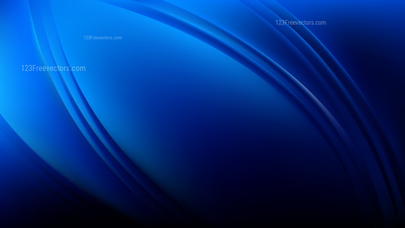 Glowing Abstract Cool Blue Wave Background