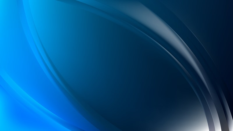 Glowing Abstract Black and Blue Wave Background Graphic