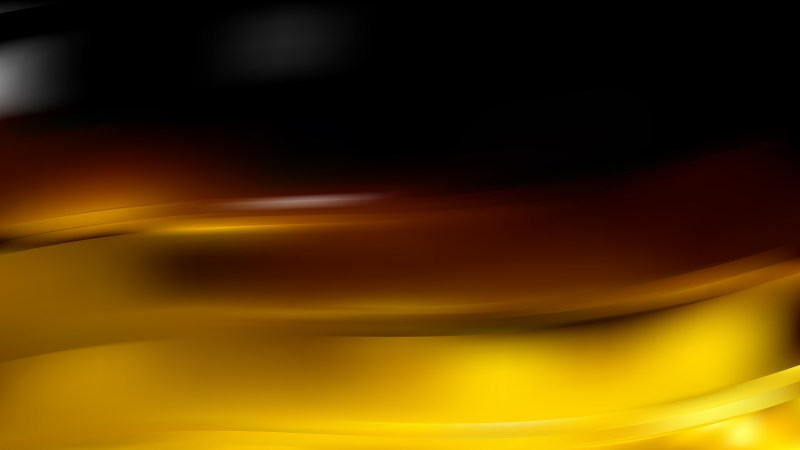 Abstract Black and Gold Wavy Background