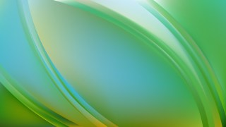 Abstract Blue and Green Wavy Background Graphic
