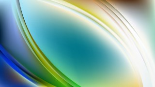 Abstract Blue and Green Wave Background Vector Illustration