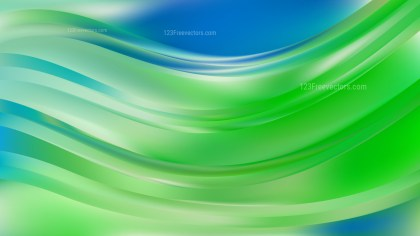 Abstract Blue and Green Wave Background Graphic
