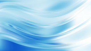 Blue and White Wave Background Vector Art