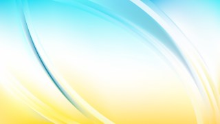 Blue and Yellow Abstract Wavy Background