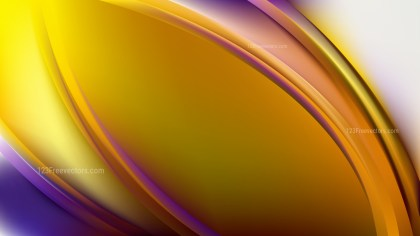 Blue and Yellow Abstract Curve Background