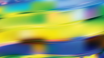Blue and Yellow Wavy Background