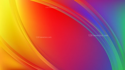 Colorful Abstract Wave Background Vector Illustration