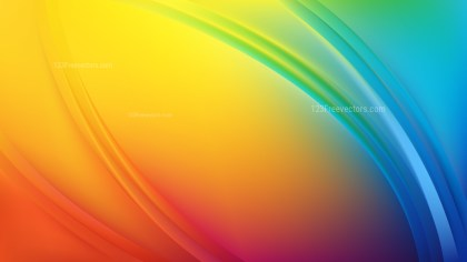 Colorful Abstract Curve Background Vector Art