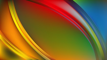 Abstract Colorful Shiny Wave Background Design