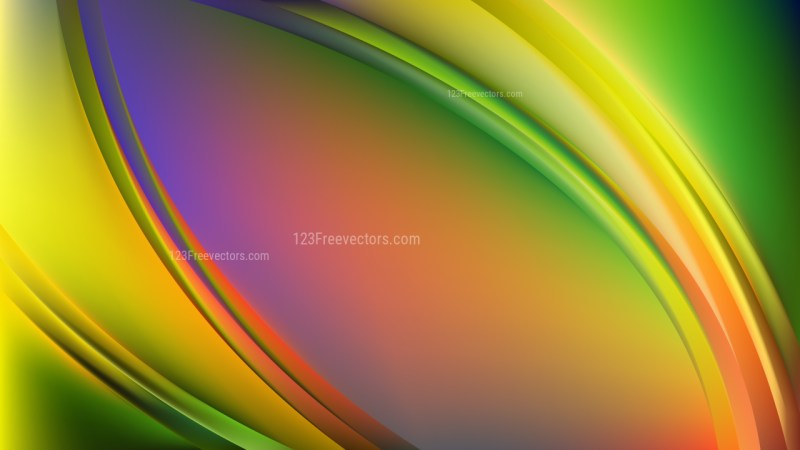 Abstract Glowing Colorful Wave Background