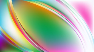 Abstract Glowing Colorful Wave Background Vector