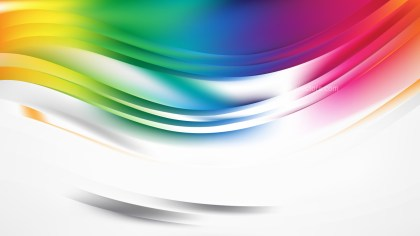 Abstract Colorful Curve Background Design