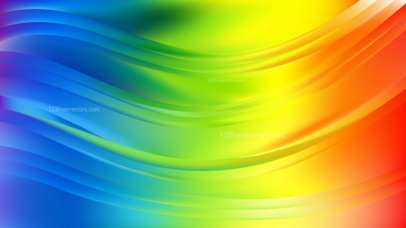 Colorful Abstract Wavy Background