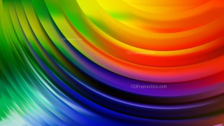 Colorful Abstract Curve Background Vector