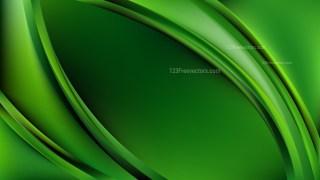 Dark Green Abstract Wave Background