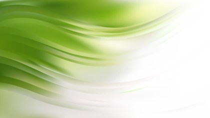 Green and White Abstract Wave Background Vector Graphic