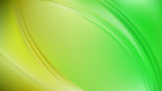 Green and Yellow Abstract Wave Background Illustration