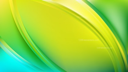 Green and Yellow Abstract Wavy Background Design