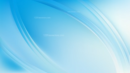 Abstract Glowing Light Blue Wave Background Vector Graphic