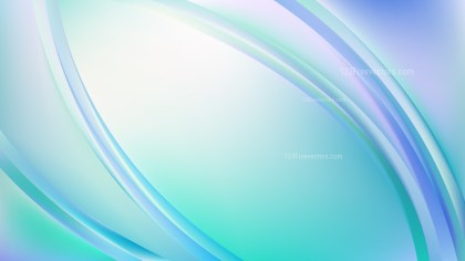 Glowing Abstract Light Blue Wave Background