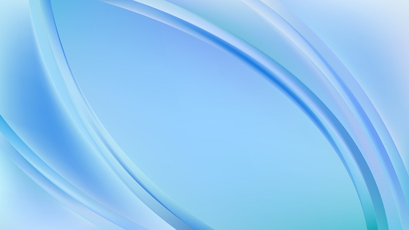 Glowing Light Blue Wave Background