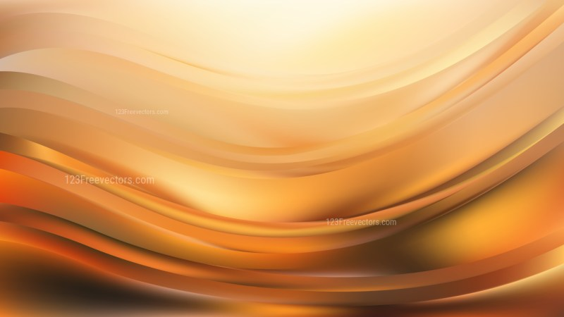 Orange Abstract Wave Background