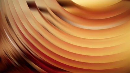 Orange Abstract Wave Background Design
