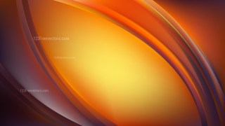 Orange and Black Abstract Curve Background Illustration