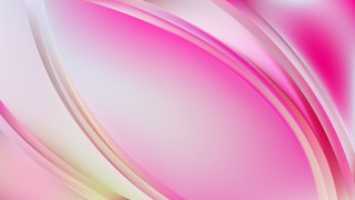 Pink and White Abstract Wave Background Template