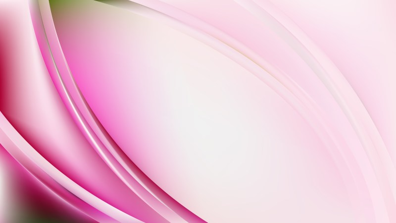Pink and White Abstract Wavy Background Illustrator