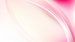 Pink and White Abstract Wave Background Template Vector