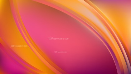 Pink and Yellow Abstract Curve Background