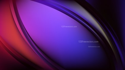 Glowing Purple and Black Wave Background Vector Graphic