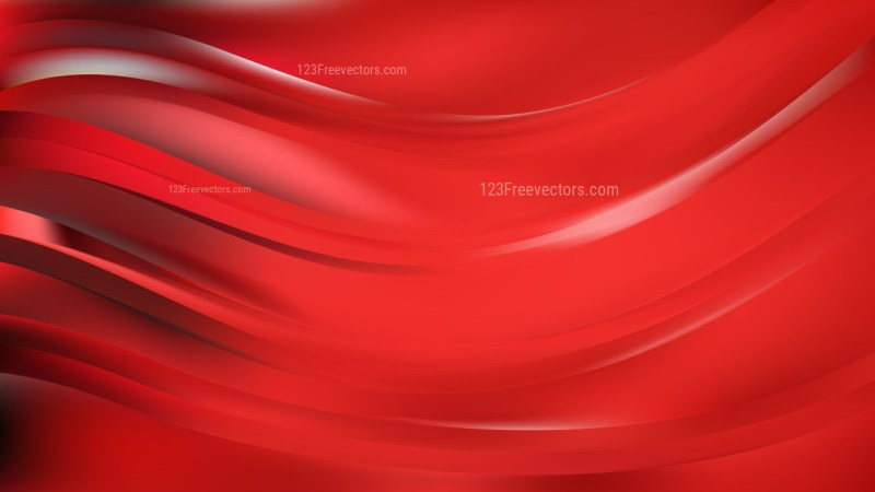 Red Abstract Wavy Background