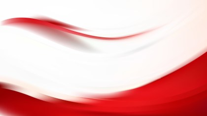 Abstract Red and White Wavy Background Vector Image